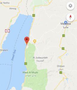 Spiaggia libera sul Mar Morto