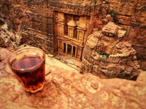 Il Tesoro visto dal Khobta in una Petra completamente vuota per il Coronavirus