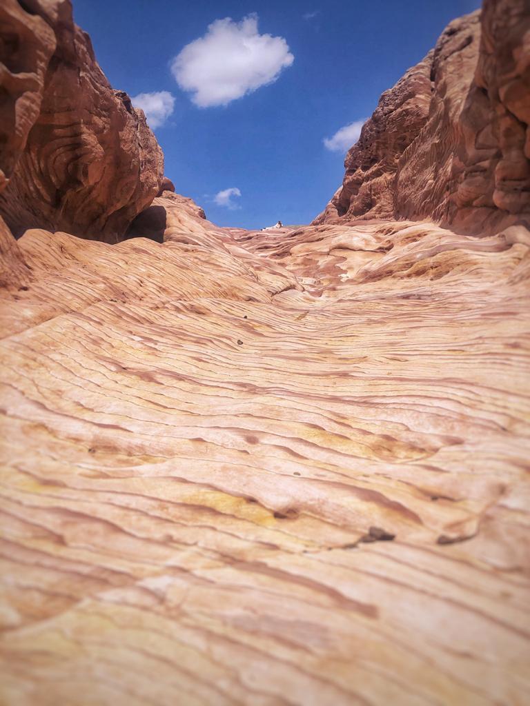 Il sentiero beduino per andare a Petra anch'esso vuoto per il Coronavirus